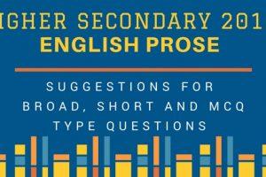 higher Secondary 2018 English Prose
