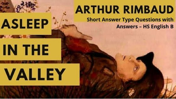 Asleep In The Valley Short Answer Type Questions