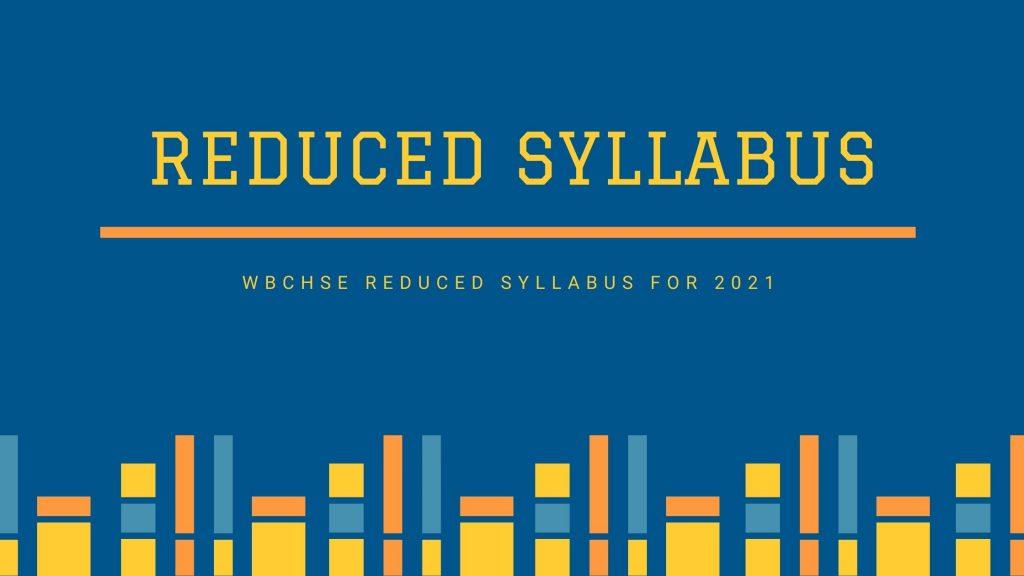 Reduced Syllabus